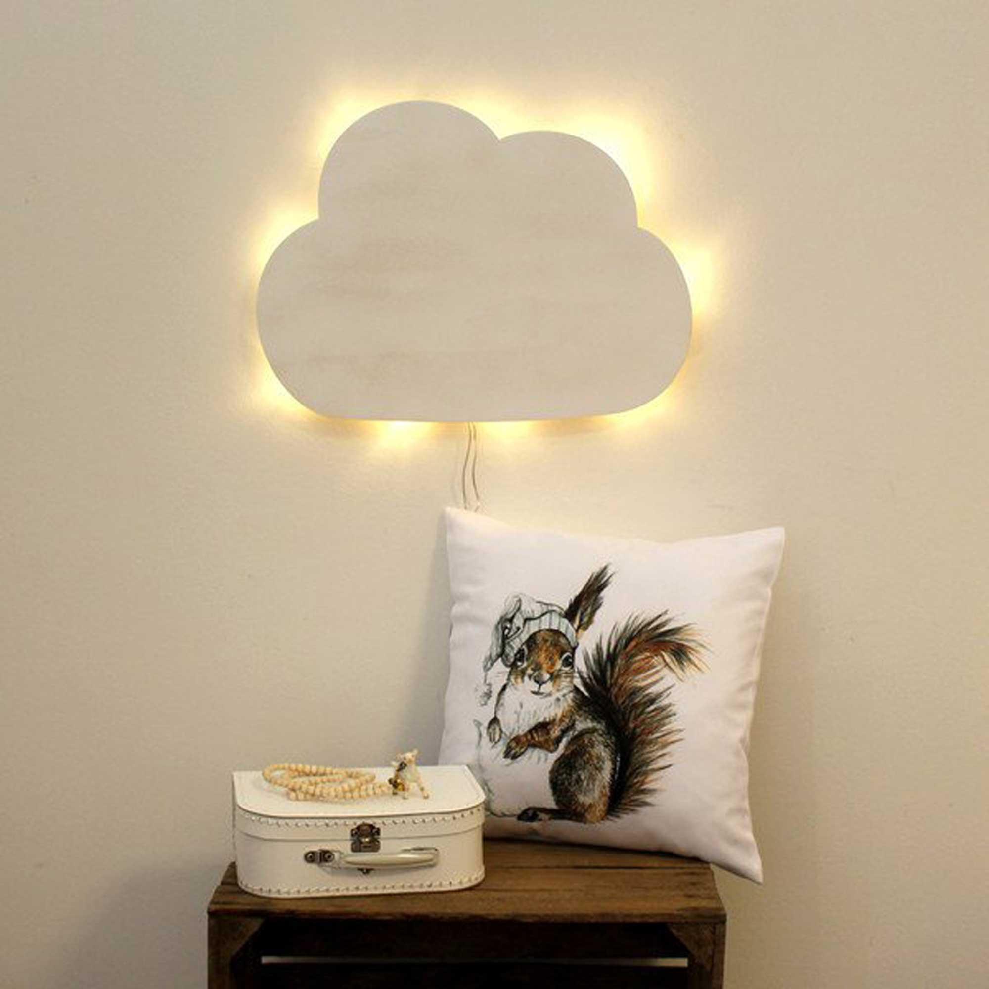 Kinderlampe Wolke Schlummerlampe in weiß M2033 ~ Wandtattoos