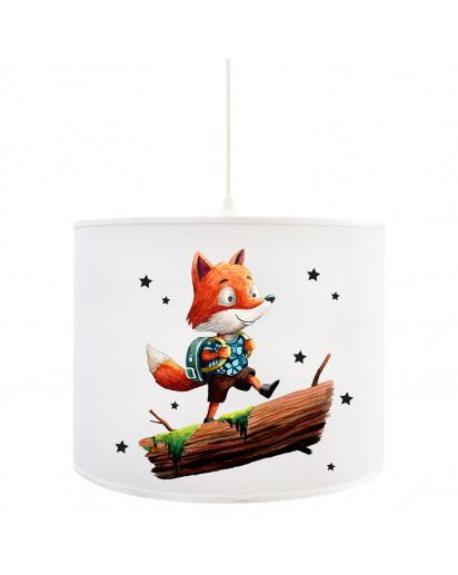 Deckenlampe Fuchs Lampe Deckenleuchte Füchschen mit Rucksack & Sterne Kinderlampe Lampe D82