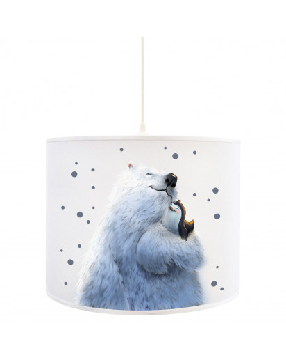 Deckenlampe Eisbär Lampe Deckenleuchte Eisbär mit Pinguin & Punkte Lampe Kinderlampe D83