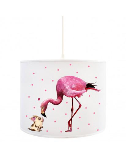 Deckenlampe Mädchen Kinderlampe rosa Deckenleuchte Flamingo Schweinchen & Punkte Lampe Leuchte Hängelampe D85