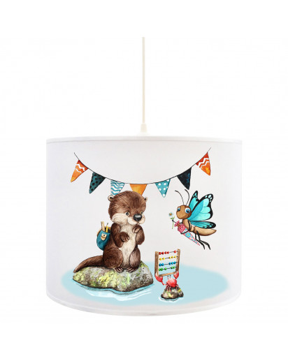 Deckenlampe Otter & Schmetterling Kinderlampe Deckenleuchte mit Krabbe Lampe Leuchte Hängelampe D91