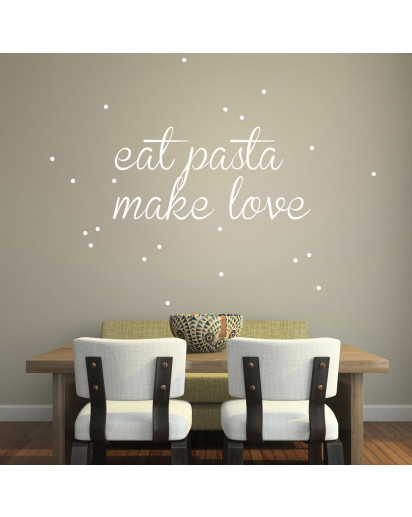 Wandtattoo Pasta Love