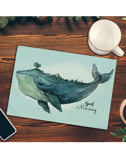 Küchenbrettchen Wal