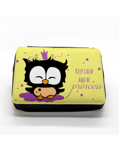 Hauptbild gefüllte Federtasche Prinzessin Eule filled pencil case princess owl keep calm and be princess