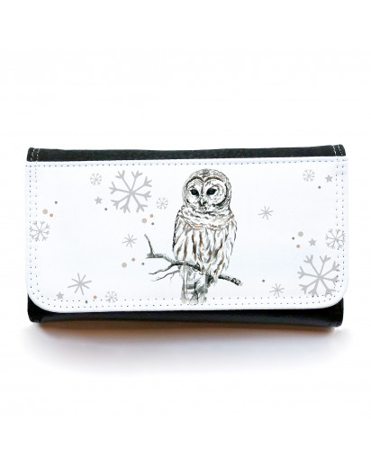 Portemonnaie große Geldbörse Brieftasche Eule Schneeeule Hedwig gbg029 Wallet big purse billfold snow owl owl Hedwig gbg029