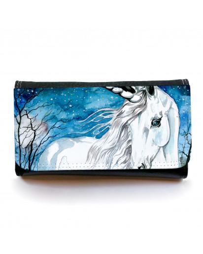 Portemonnaie große Geldbörse Brieftasche Einhorn im Zauberwald gbg030 Wallet big purse billfold unicorn in magical forest gbg030