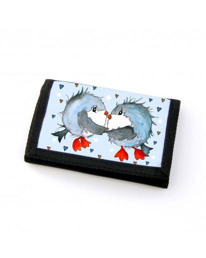 Portemonnaie Geldbörse Brieftasche Vögel Vögelchen verliebt gf33 Wallet purse billfold birds birdcouple in love gf33
