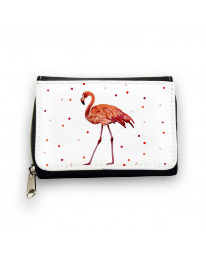 Geldbörse Flamingo mit Punkten Wallet flamingo with dots gk082