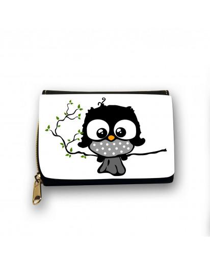 Hauptbild Portemonnaie Geldbörse Eule Eulchen auf Zweig Ast wallet purse with owl on branch twig gk08