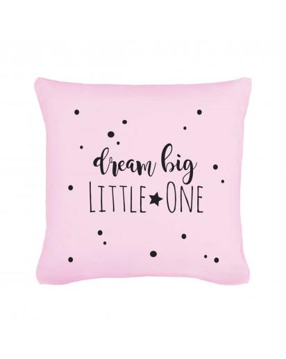 kissen mit spruch dream big little one und punkten. Black Bedroom Furniture Sets. Home Design Ideas