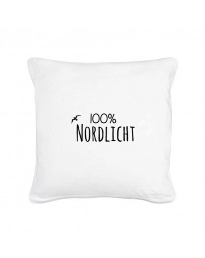 "Kissen 100% Nordlicht mit Möwe Pillow ""100% Nordlicht"" with seagull including filling"