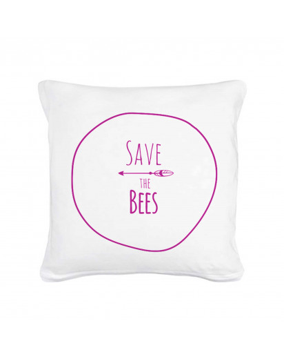 "Kissen mit Spruch ""Save the Bees"" mit Pfeil Pillow with qoute - save the Bees with arrow"