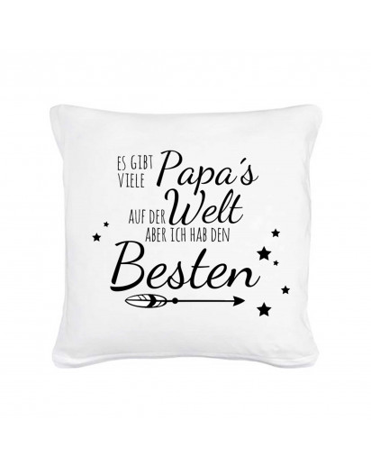 Kissen mit Spruch bester Papa mit Sternen und Pfeil inklusive Füllung pillow with saying best dad with stars and arrow including filling k22