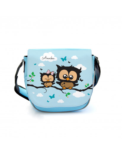 Kindergartentasche Kindertasche Tasche Eulen Eulchen auf Zweig mit Wunschnamen kgt14 Kindergarten Bag children bag bag owls little owl on branch with desired name kgt14