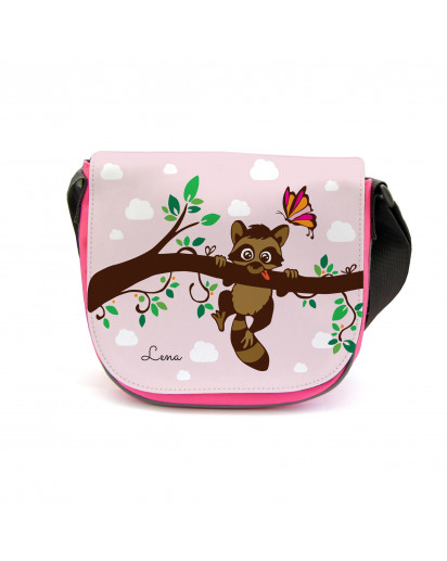 Kindergartentasche Kindertasche Tasche Waschbär auf Zweig mit Wunschnamen kgt17 Kindergarten Bag children bag bag racoon on branch with desired name kgt17