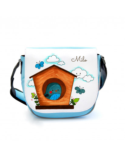 Kindergartentasche Kindertasche Tasche Vogel im Vogelhäuschen kgt01 Kindergarten Bag children bag bag bird in the bird box kgt01