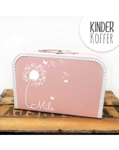 Kinderkoffer Koffer Pusteblume mit Schmetterlingen rosa children suitcase dandelion with butterflies rose kos5c