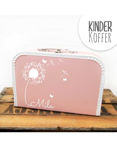 Kinderkoffer Koffer Pusteblume mit Schmetterlingen rosa children suitcase dandelion with butterflies rose kos5c