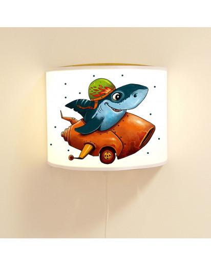 Kinderlampe Hai