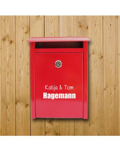 Briefkasten Aufkleber Name