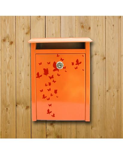 Briefkasten Aufkleber Schmetterling