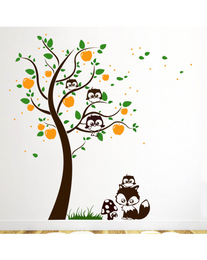 Fuchs Eule Baum