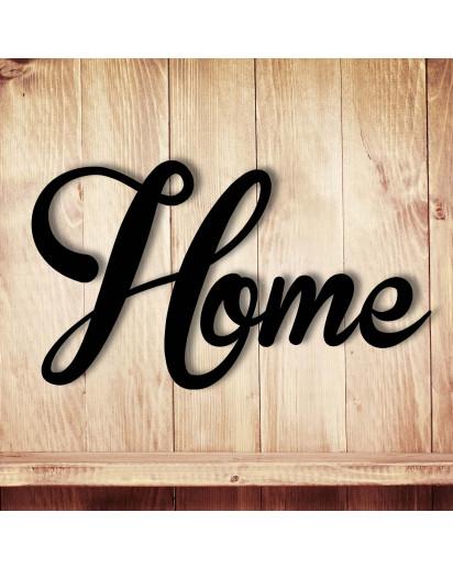 Wanddeko Dekoration Holz Holzschriftzug Schriftzug Home zu Hause wohnen M1326