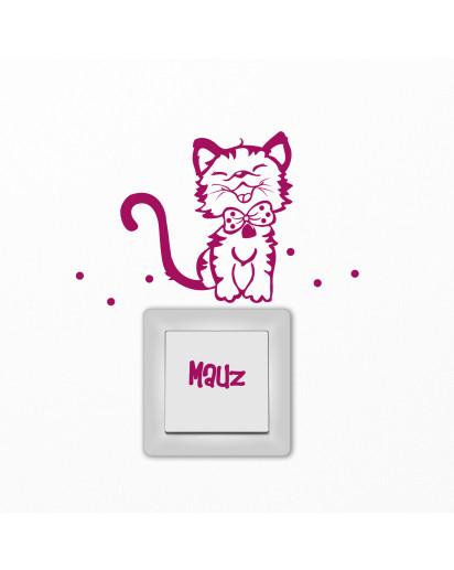 Lichtschalter Tattoo Kätzchen