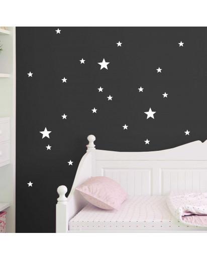 Wandtattoo Sterne Leuchtsticker