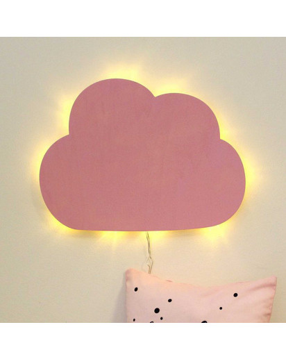Wandlampe Kinderlampe Wolke Wölkchen Schlummerlampe in rosa Wall lamp children lamp little cloud nightlight in rose M2032
