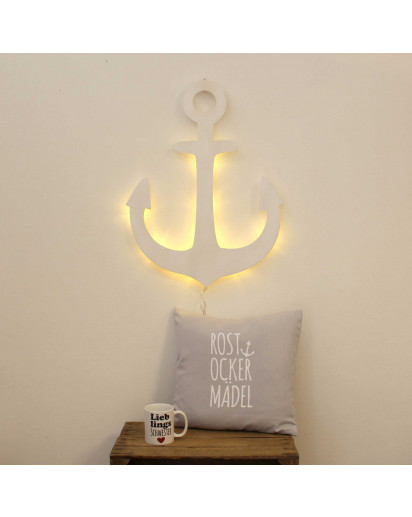 Lampe Wandlampe Kinderlampe Schlummerlampe Leselampe Anker wall lamp reading light reading lamp snooze light snooze lamp wall light wall lamp nightlight anchor white