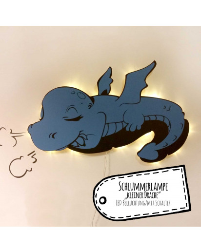 Lampe Wandlampe Kinderlampe Schlummerlampe schlafender Baby Drache Wall lamp reading light nightlight sleeping baby dragon M2039
