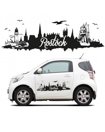 Auto Aufkleber Skyline Rostock
