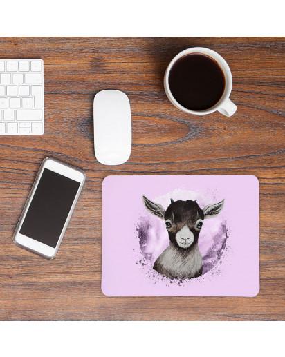 Mousepad mouse pad Mauspad mit süßen Ziege Zicklein Mausunterlage bedruckt für den Schreibtisch mouse pads Tier m68