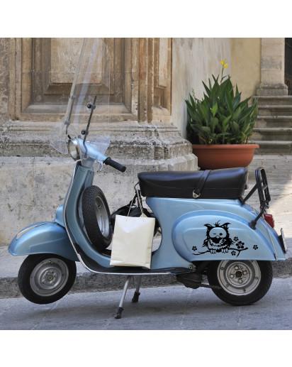 Moped Aufkleber Eule