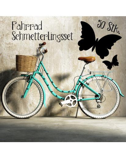 Fahrradaufkleber Schmetterling