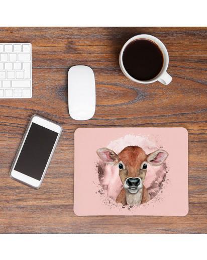Mousepad mouse pad Mauspad mit süßen Kälbchen Mausunterlage bedruckt für den Schreibtisch mouse pads Tier mp70