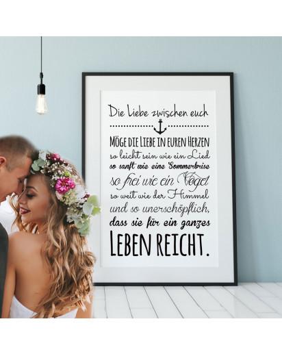 Plakat Liebe