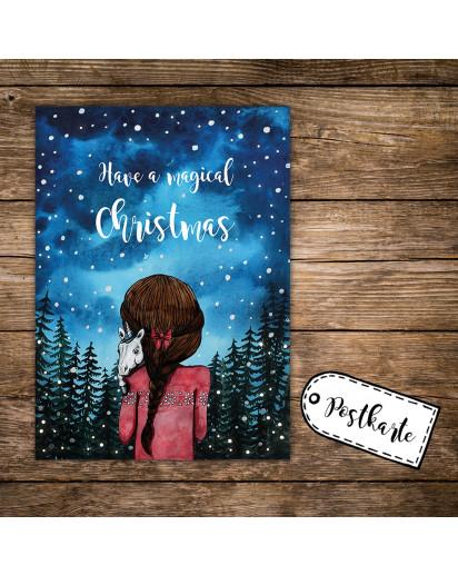Postkarte Mädchen