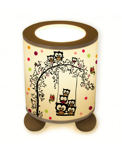 Hauptbild Tischlampe Eule auf Schaukel Konfetti table lamp owl on swing confetti