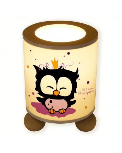 Hauptbild Tischlampe Eule als Prinzessin ich bin eine Prinzessin table lamp princess owl i am a princess