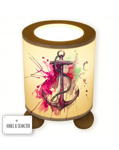 Hauptbild Tischlampe Anker maritim Wunschname anchor maritime desired name