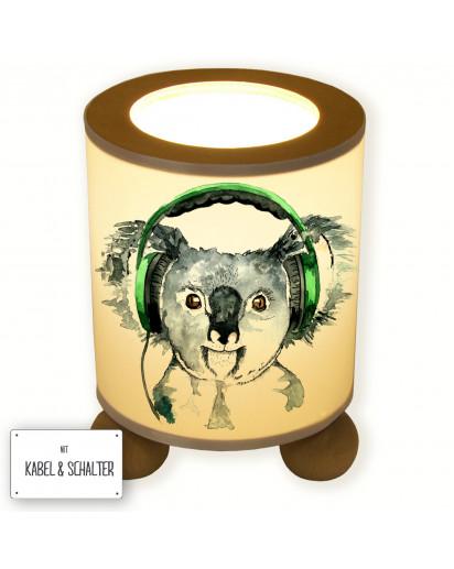 Tischlampe Koala mit Kopfhörer table lamp koala with headphones tl028