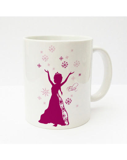 Tasse Becher Kaffeetasse Kaffeebecher Kindertasse Kinderbecher Schneeflocken Schneekristalle und Schneekönigin mit Wunschnamen in berry cup mug kids cup kids mug coffee cup coffee mug snowflakes snow crystals and snow queen with desired name in berry ts16