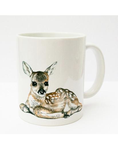Tasse Becher Kaffeetasse Kaffeebecher Kindertasse Kinderbecher Reh Rehkitz Bambi cup mug kids cup kids mug coffee cup coffee mug deer fawn bambi ts176