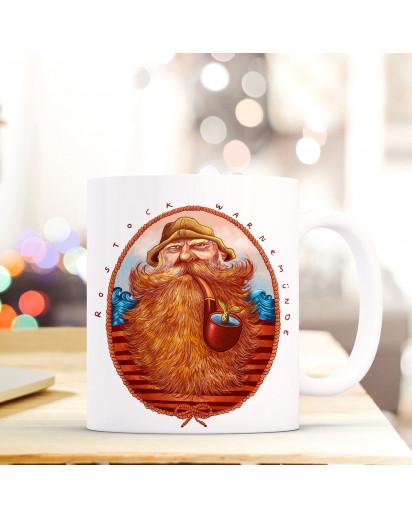Tasse Becher Kaffeetasse Kaffeebecher Maritim mit Seemann und Spruch Rostock Warnemünde Cup mug coffee cup coffee mug maritime with seaman and quote saying rostock warnemünde ts438_H.jpg