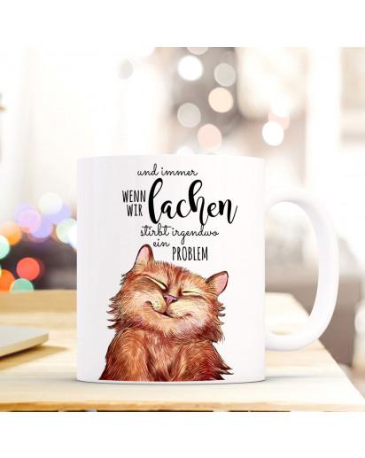 tasse becher lustige katze kaffeebecher mit spruch immer wenn wir lachen ts498 wandtattoos. Black Bedroom Furniture Sets. Home Design Ideas