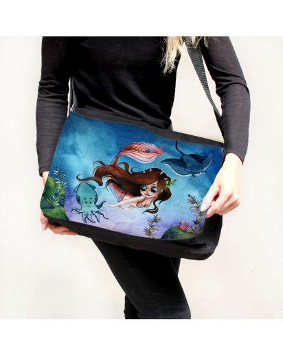 Schultertasche Schultasche Tasche Umhängetasche Meerjungfrau & Freunde Geschenk tsu92