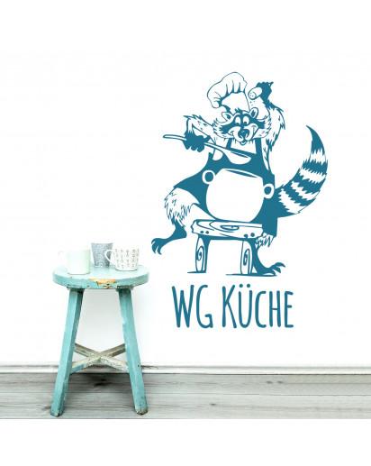 Wandtattoo Waschbär Küche