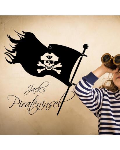 Wandtattoo Piratenflagge